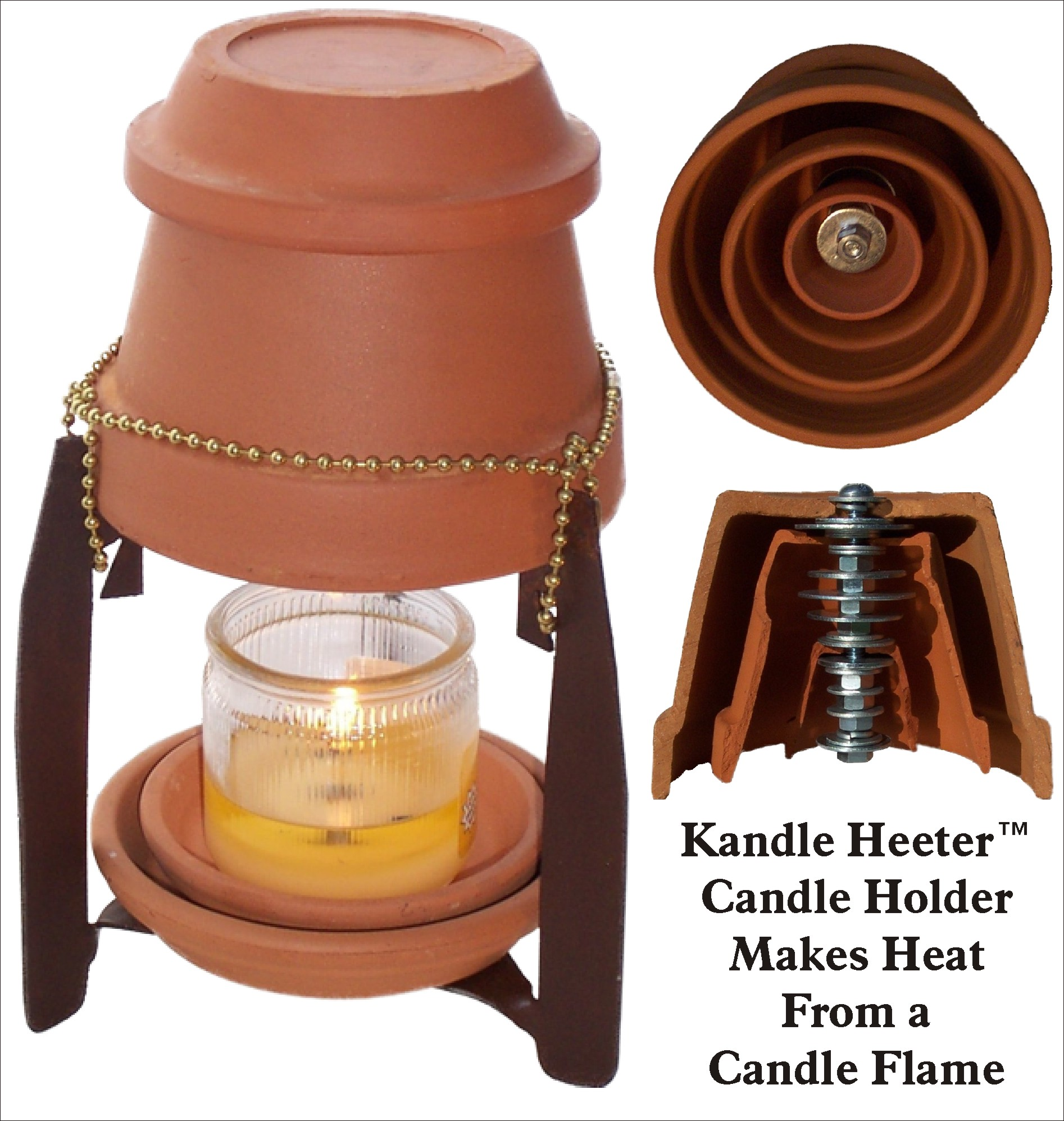 Kandle Heeter How To Heat Up Your Room Using A Candle Build Electronic Blow Out Schematic The Has Been Invented By Doyle Doss Northern California Inventor And Is What It Looks Like Heater