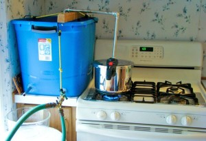 homemade water distiller 300x206 How to Build a Homemade Water Distiller in Less Than an Hour