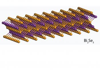 The five-layer bismuth selenide (Bi2Se3) material.