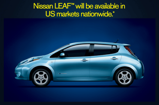 nissan leaf1 Nissan Leaf Finally Available in All U.S. Markets
