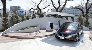honda hydrogen station 300x163 Japans First Solar Powered Hydrogen Station, Made by Honda