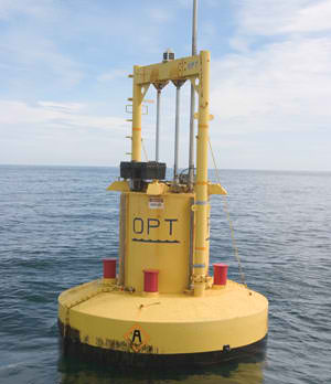 Point absorber device made by Ocean Power Technologies