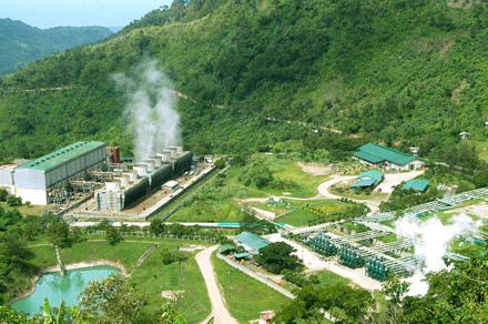 Philippine geothermal power plant in Negros Oriental