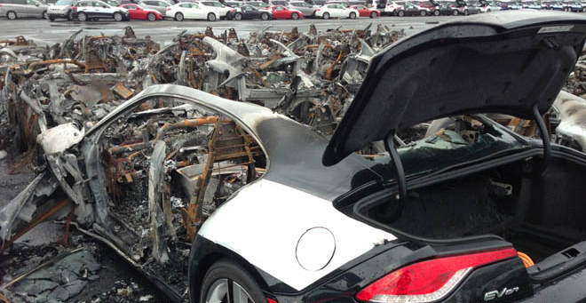 16 Fisker Karma burned after Hurricane Sandy