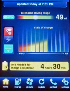 Nissan Leaf Battery Status Mobile App