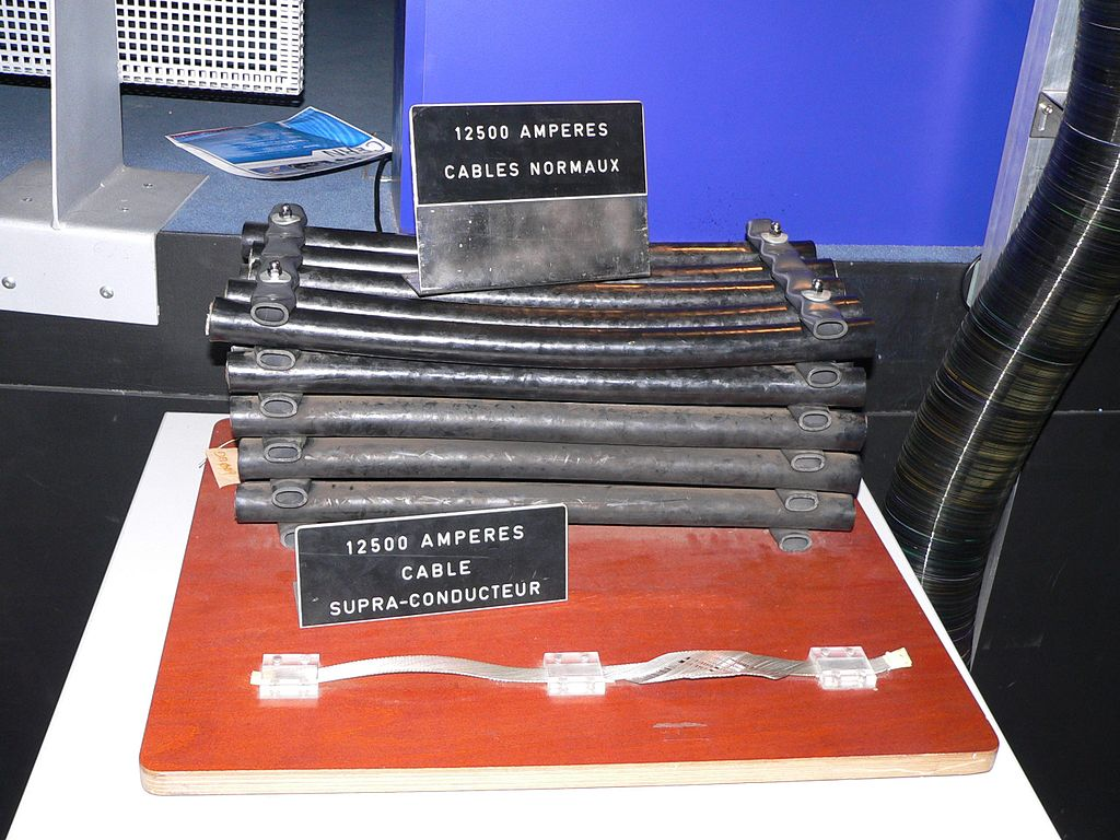 Comparison Between Typical Power Transmission Cables and Superconducting Cables, Both Rated at 12,500 Amps