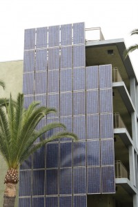 Municipal Building with Photovoltaic Solar Panels