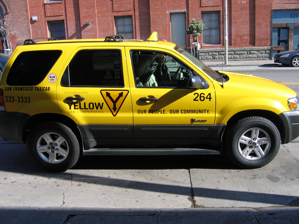 Hybrid Taxi in San Francisco, CA