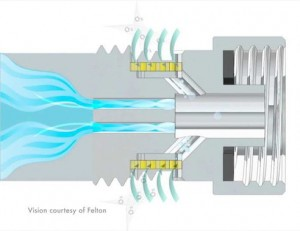 Felton Oxijet Insert Makes ANY Shower Head an Aerated Shower Head, Saving Water and Your Shower
