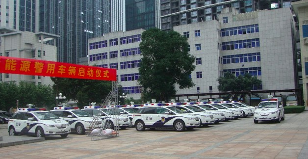 The First of 500 BYD e6 Police EVs in Shenzen, China