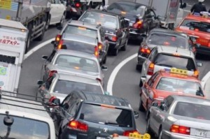 trafficjamis 300x199 Official: Japanese Government Thinks Emission Targets Too Difficult to Achieve, Backs Off