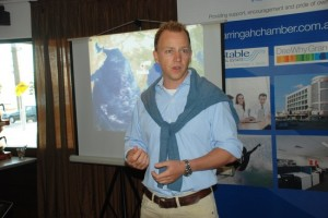 Jeremy Rowsell Explaining His Flight Plans Using Only Recycled-Plastic Fuel