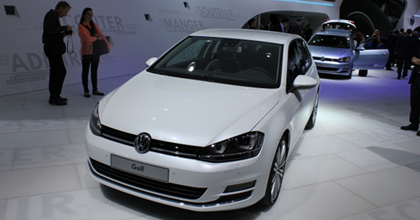 Volkswagen Golf MK7 as seen at 2012 Paris Motor Show - 188mpg Plug-In Hybrid Electric Vehicle to Go On Sale in 2014