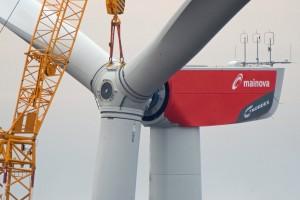 Wind Turbine Rotor Mounting in Germany