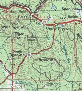 Topo Map on TyVek Waterproof Material