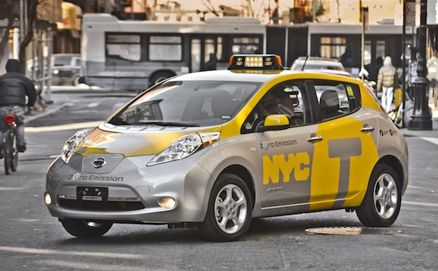First Nissan Leaf Taxi in New York CIty