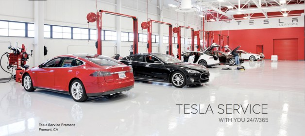 Tesla Motors Service Centers Now Offering Fully-Equipped Tesla Model S 85kWh as Loaner Vehicles