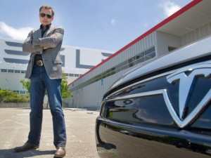 Elon Musk and His Model S (c) USA Today