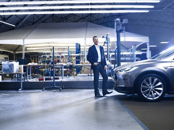 Elon Musk and his future Model X. Picture (c) Forbes