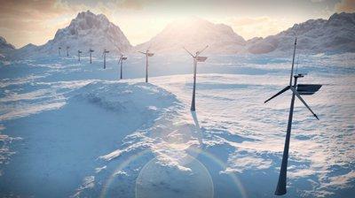 stock-footage--b-electricity-wind-turbines-farm-power-clean-alternative-energy-winter-snow-loop