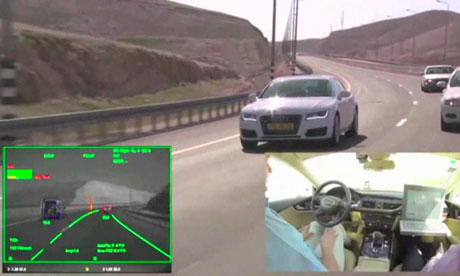 A driverless Audi A7 in Israel