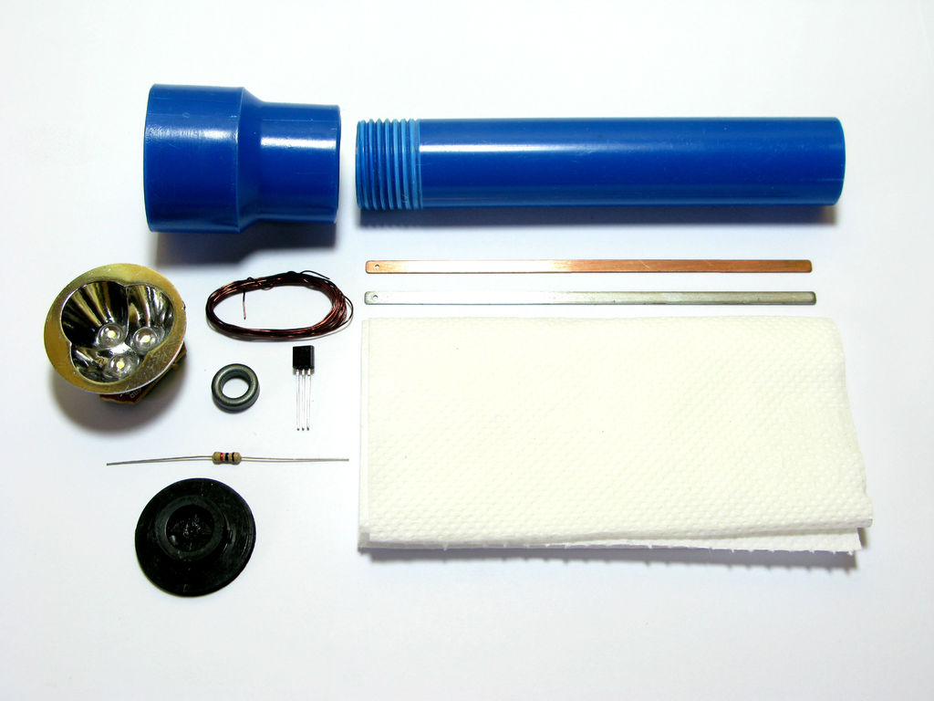 Water Powered Flashlight Make In 5 Steps How To Build Led Torch