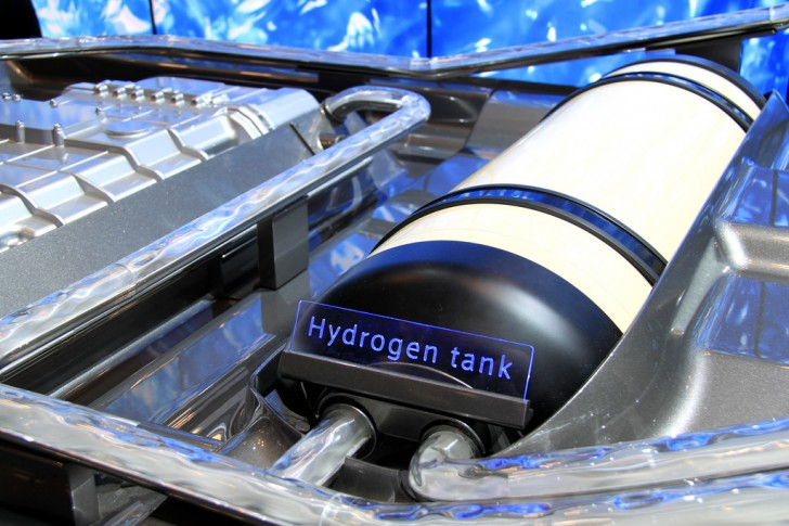 Toyota Hydrogen Fuel Cell Technology, Seen at the 2014 New York International Auto Show