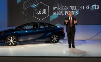 """Toyota """"All our hydrogen fuel cell patent are belong to you"""" for a limited time."""