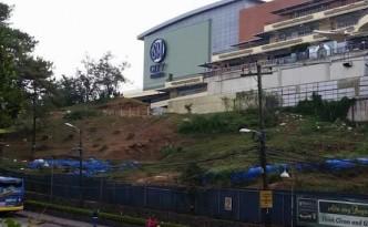 Facade of SM Baguio mall amid tree stumps  (c) Von Eric Domingo/Facebook