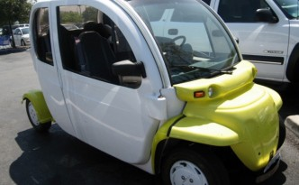 A neighborhood electric vehicle.