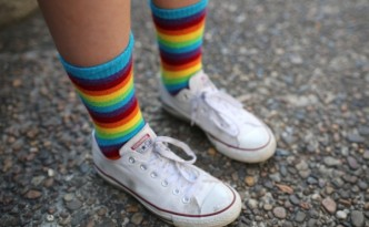Socks like these could generate electricity.