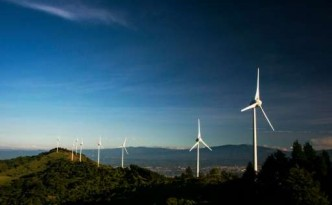 Wind farms are a source of energy in Costa Rica.