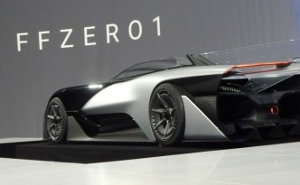 The Faraday Future prototype was unveiled Monday at CES.