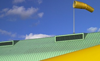 This rooftop could generate wind power in a new way.