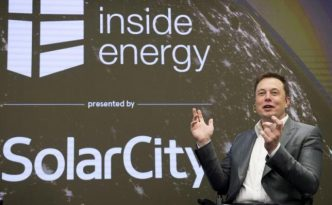 File photo of Elon Musk, chairman of SolarCity and CEO of Tesla Motors, speaks at SolarCityÕs Inside Energy Summit in Midtown, New York