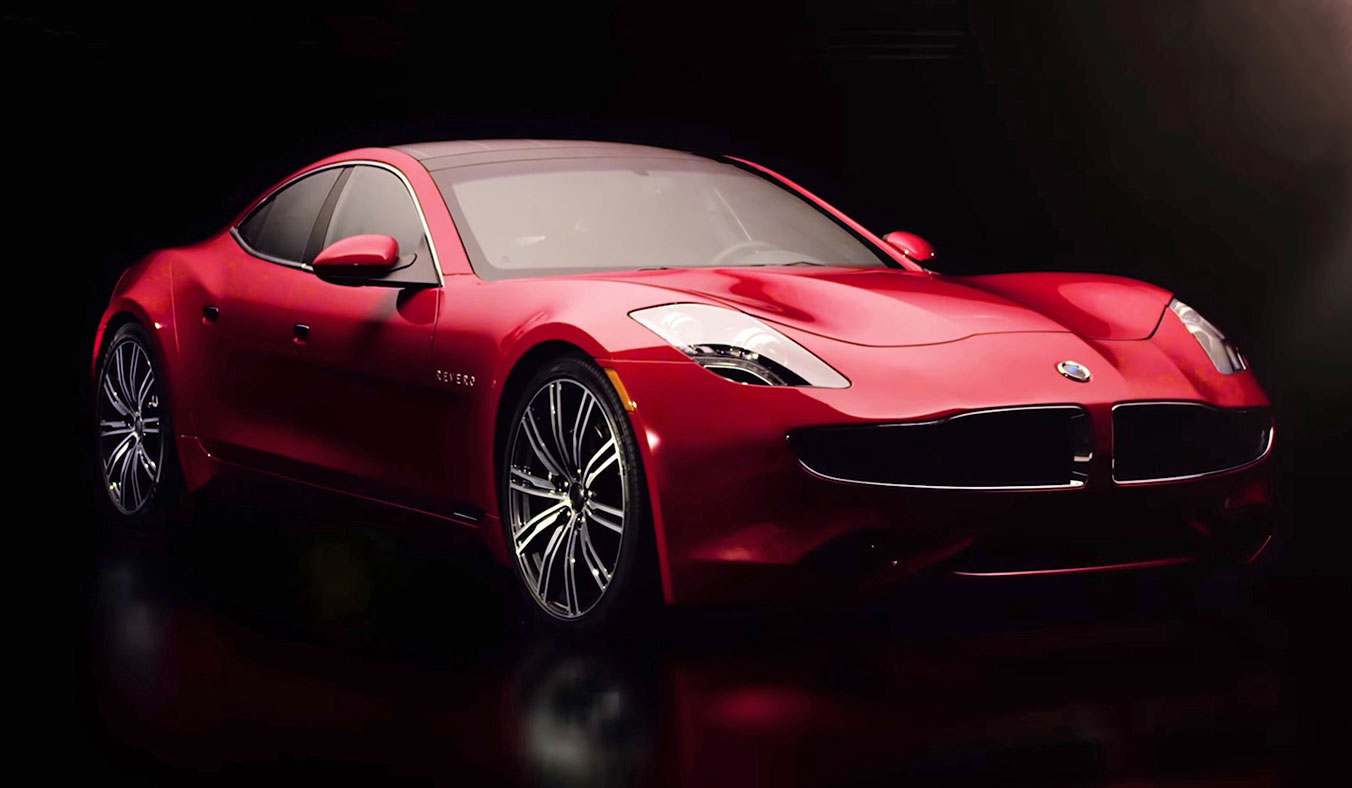 karma revero   fit with solar panels and a gasoline engine