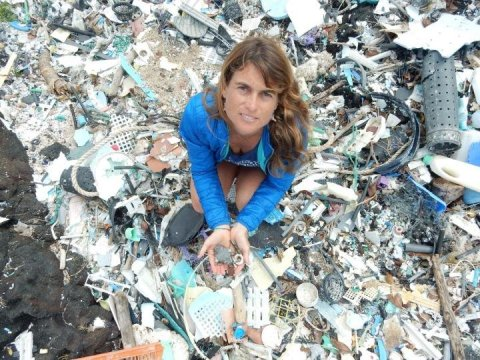 Degrading plastics give off harmful greenhouse gases